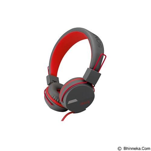 SONICGEAR Vibra 5 - Grey Red - Headphone Portable