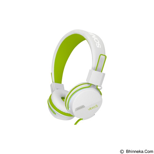 SONICGEAR Vibra 5 - White Green - Headphone Portable
