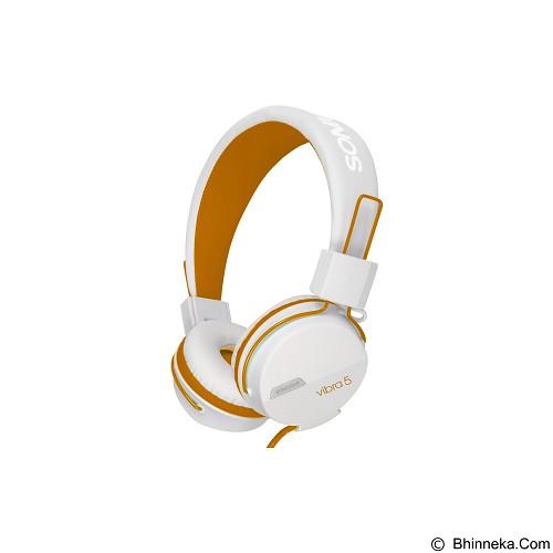 SONICGEAR Vibra 5 - White Orange - Headphone Portable