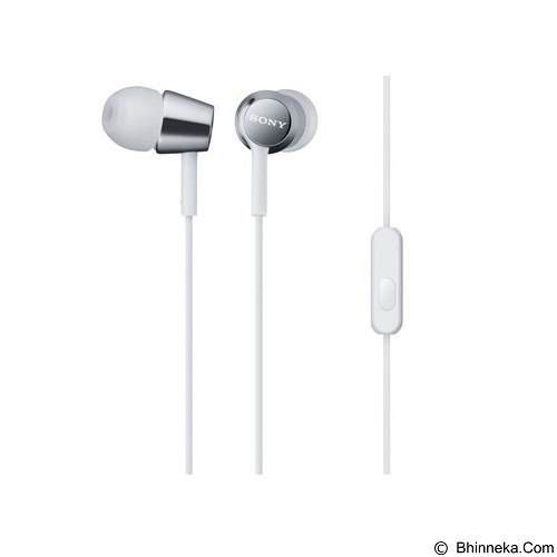SONY EX Monitor In Ear Headphones [MDR-EX150AP/W] - White - Earphone Ear Monitor / Iem