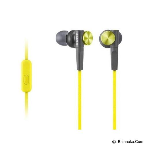 SONY Earphone [MDR-XB50 AP] - Yellow - Earphone Ear Monitor / Iem