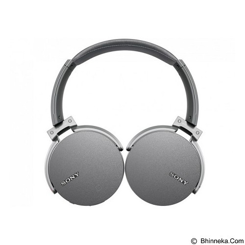 SONY Extra Bass Bluetooth Headphone [MDR-XB950BT] - Grey - Headset Bluetooth