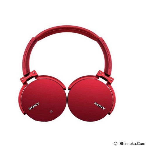 SONY Extra Bass Bluetooth Headphone [MDR-XB950BT] - Red - Headset Bluetooth