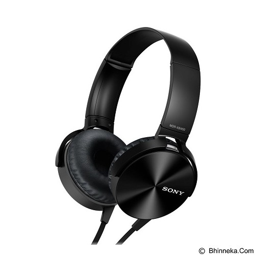 SONY Extra Bass Headphone [MDR-XB450AP] - Black (Merchant) - Headphone Portable