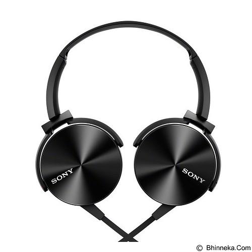 SONY Extra Bass Headphone [MDR-XB450AP] - Black (Merchant) - Headphone Portable