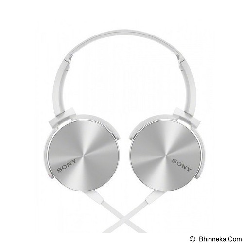 SONY Extra Bass Headphone [MDR-XB450AP] - White (Merchant) - Headphone Portable