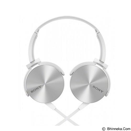 SONY Extra Bass Headphone [MDR-XB450AP] - White (Merchant) - Headphone Portable