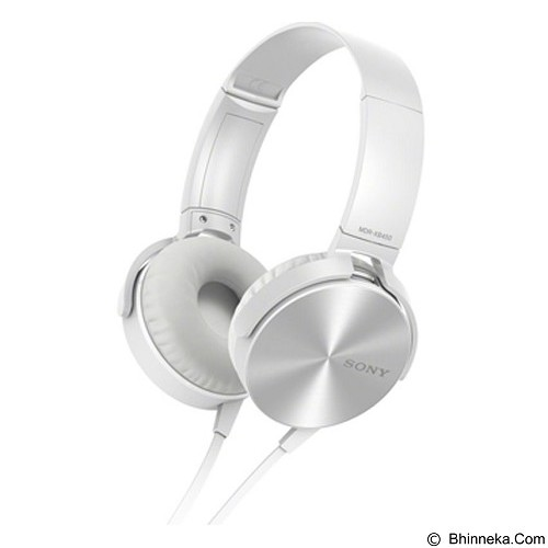 SONY Extra Bass Headphone [MDRXB450APWQE] - White - Headphone Portable