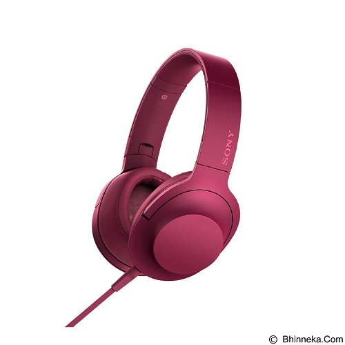 SONY Headphone Ear On [MDR-100AAP] - Bordeaux Pink (Merchant) - Headphone Portable