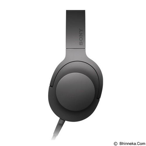 SONY Headphone Ear On [MDR-100AAP] - Charcoal Black - Headphone Portable