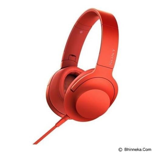 SONY Headphone Ear On [MDR-100AAP] - Cinnabar Red (Merchant) - Headphone Portable