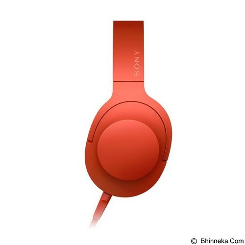 SONY Headphone Ear On [MDR-100AAP] - Cinnabar Red (Merchant) - Headphone Portable