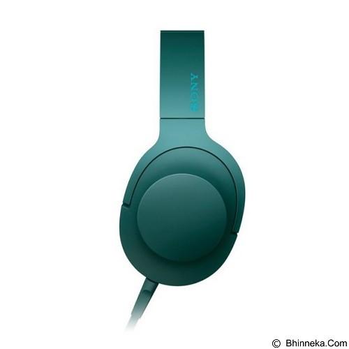 SONY Headphone Ear On [MDR-100AAP] - Viridian Blue (Merchant) - Headphone Portable