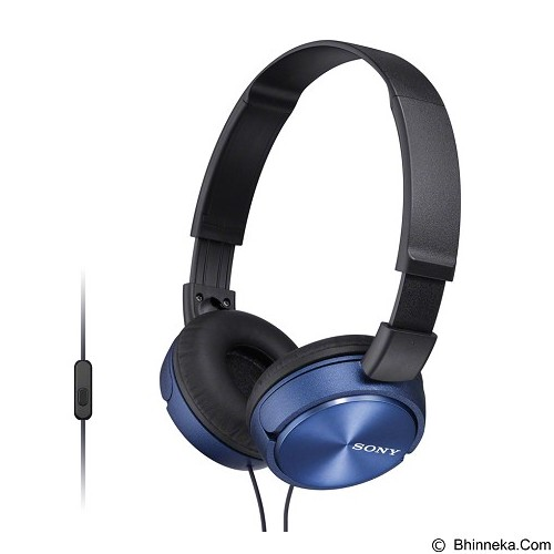 SONY Headphone [MDR-ZX310AP] - Blue (Merchant) - Headphone Full Size