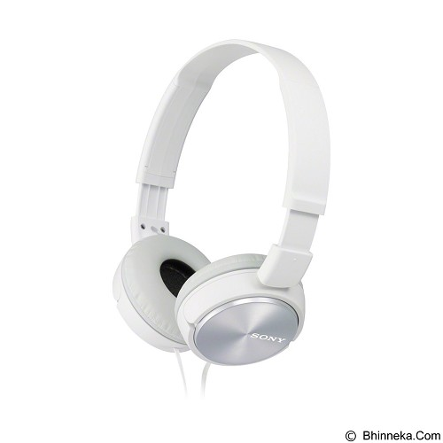 SONY Headphone [MDR-ZX310AP] - White - Headphone Portable