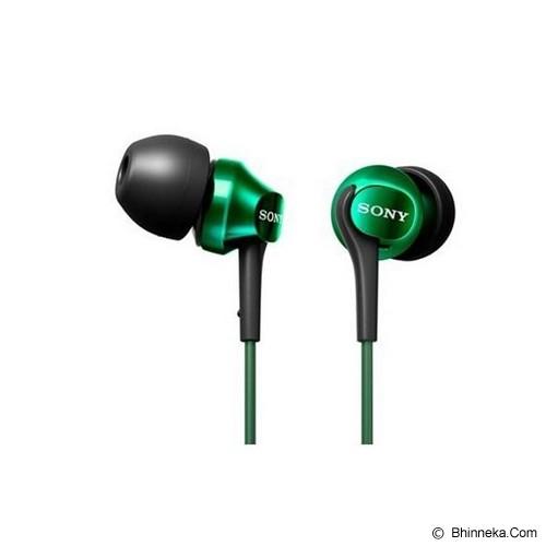 SONY Headphones [MDR-EX100LP] - Green - Earphone Ear Monitor / Iem