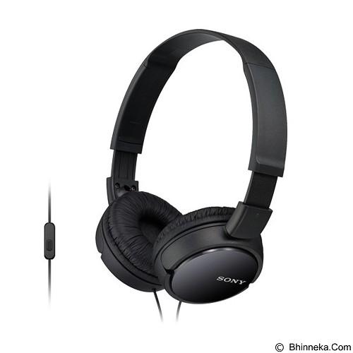 SONY Headphones [MDR-ZX110AP] - Black (Merchant) - Headphone Full Size