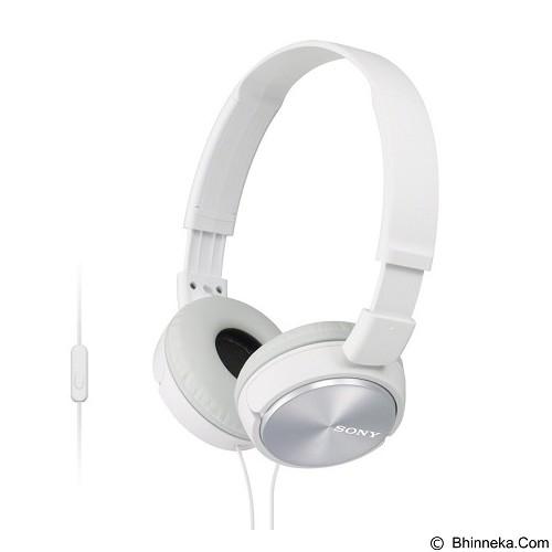 SONY Headphones [MDR-ZX110AP] - White - Headphone Portable