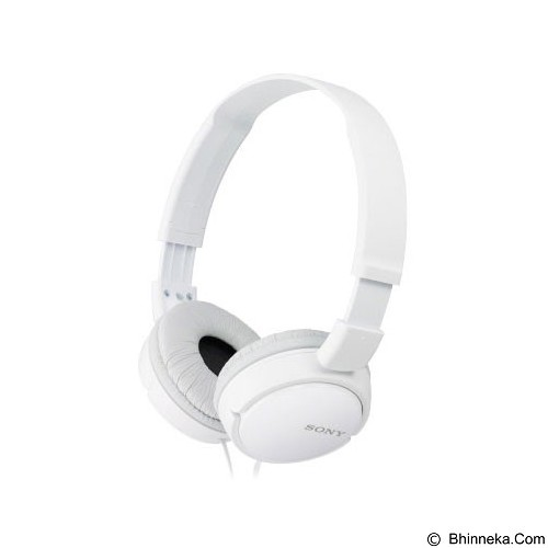 SONY Headphones [MDR-ZX110APWCE] - White - Headphone Full Size