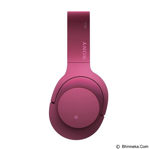SONY High-Res Bluetooth Headphone [MDR-100ABN] - Bordeaux Pink (Merchant) - Headphone Portable