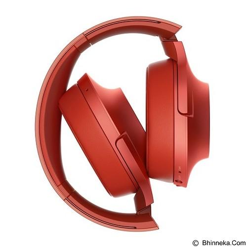 SONY High-Res Bluetooth Headphone [MDR-100ABN] - Cinnabar Red (Merchant) - Headphone Portable