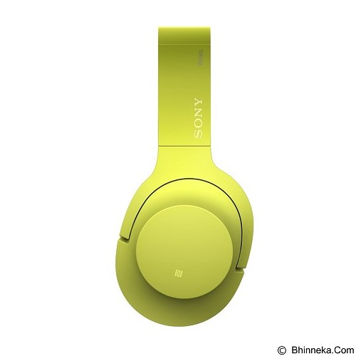 SONY High-Res Bluetooth Headphone [MDR-100ABN] - Lime Yellow (Merchant) - Headphone Portable