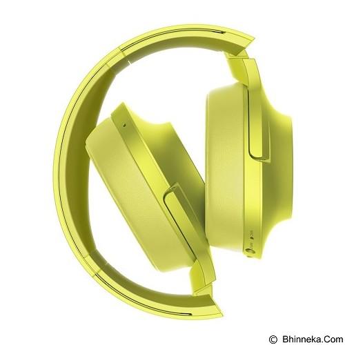 SONY High-Res Bluetooth Headphone [MDR-100ABN] - Lime Yellow (Merchant) - Headphone Portable