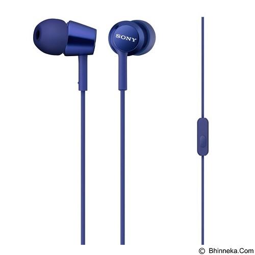 SONY In-ear Headphone with Mic [MDR-EX150AP] - Blue (Merchant) - Earphone Ear Monitor / Iem
