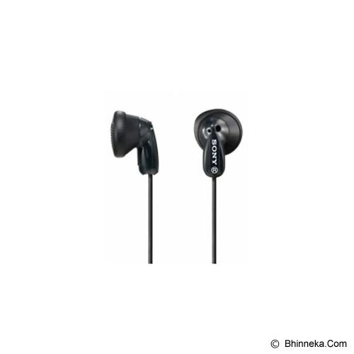 SONY Earbud Headphones [MDR-E9LP] - Black - Earphone Ear Bud