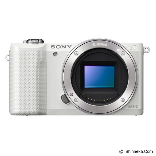 SONY Mirrorless Digital Camera Alpha a5000 [ILCE-5000L] - White (Merchant) - Camera Mirrorless