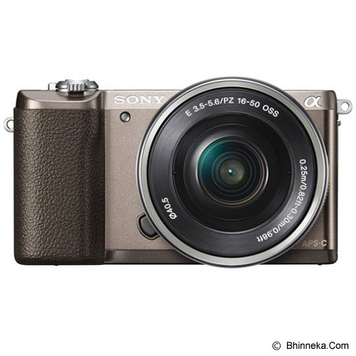 harga SONY Mirrorless Digital Camera Alpha a5100 [ILCE-5100L] - Brown Bhinneka.Com