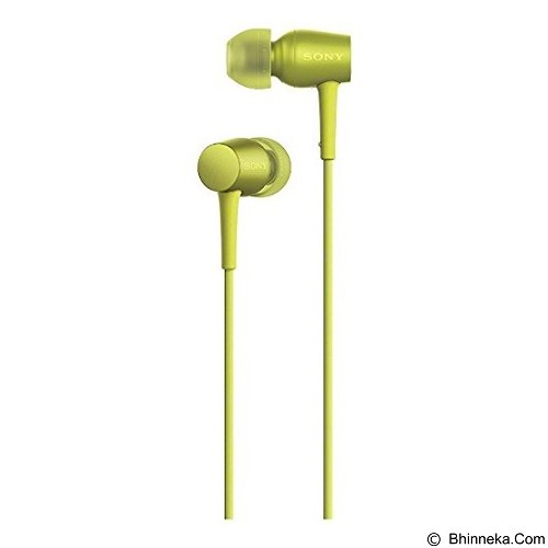 SONY Monitor In Ear Headphones [MDR-EX750AP] - Lime Yellow - Earphone Ear Monitor / Iem