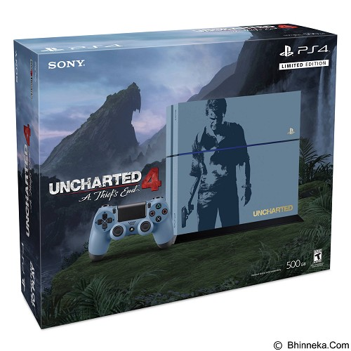 SONY PlayStation 4 500GB Limited Edition Uncharted 4 A Thiefs End - Game Console