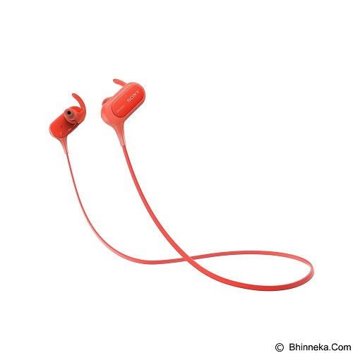 SONY Sports Bluetooth In Ear Headphones [NY MDR-XB50BS] - Red - Headset Bluetooth