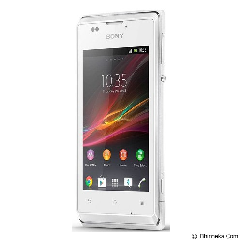 SONY Xperia E Single [C1505] - White - Smart Phone Android