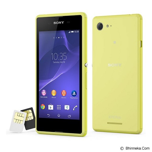 SONY Xperia E3 Dual - Lime - Smart Phone Android