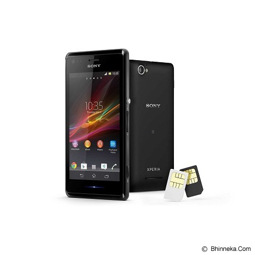 SONY Xperia M Dual [C2005] - Black - Smart Phone Android