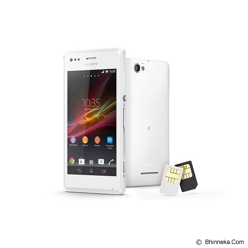 SONY Xperia M Dual [C2005] - White - Smart Phone Android