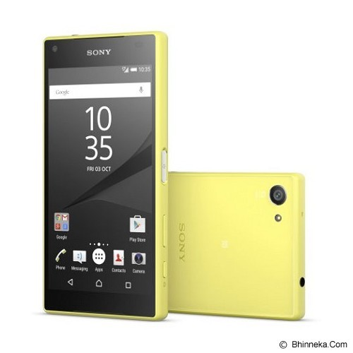SONY Xperia Z5 Compact [E5803] - Yellow (Merchant) - Smart Phone Android