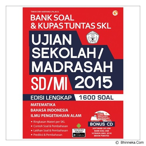 MAGENTA GROUP Bank Soal dan Kupas Tuntas SKL Ujian Sekolah/Madrasah SD/MI 2015 - Craft and Hobby Book
