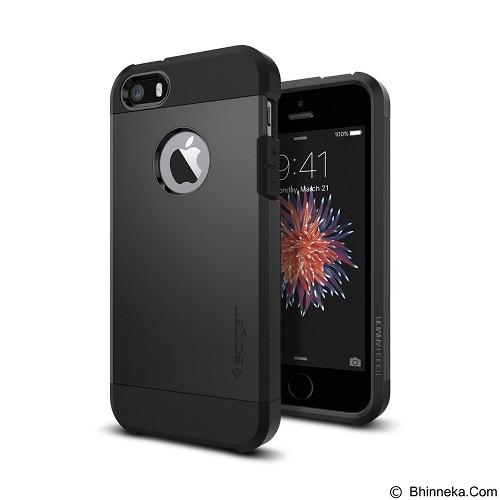SPIGEN Case Tough Armor for Apple iPhone SE/5S/5 - Black (Merchant) - Casing Handphone / Case