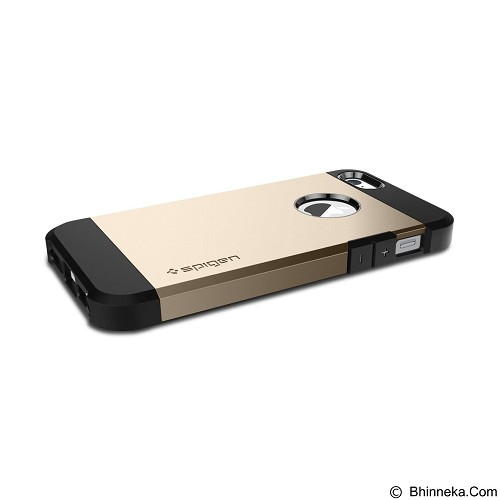SPIGEN Case Tough Armor for Apple iPhone SE/5S/5 - Gold - Casing Handphone / Case
