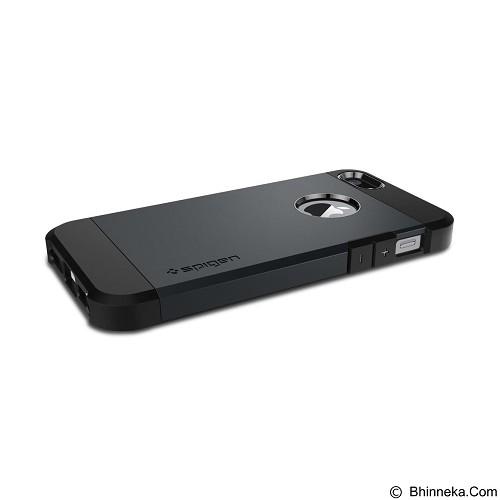 SPIGEN Case Tough Armor for Apple iPhone SE/5S/5 - Gunmetal (Merchant) - Casing Handphone / Case