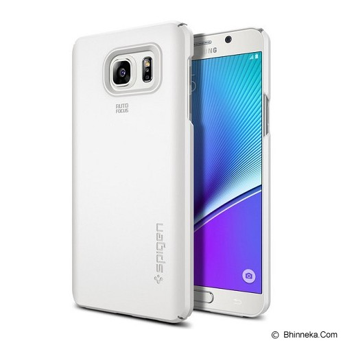 SPIGEN Galaxy Note 5 Case Thin Fit [SGP11682] - Shimmery White - Casing Handphone / Case