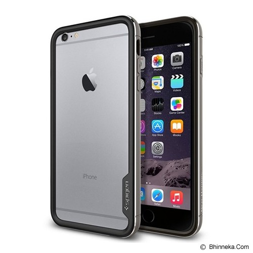 SPIGEN Neo Hybrid EX Dual Shell iPhone 6 Plus - Grey - Casing Handphone / Case