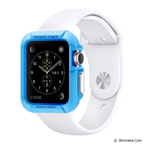 SPIGEN Rugged Armor Apple Watch 42 MM - Blue - Casing Smartwatch / Case