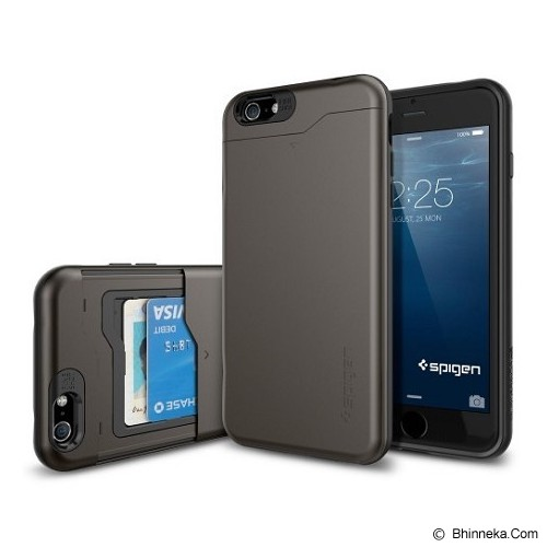 SPIGEN Slim Armor CS Card Slider iPhone 6 - Black - Casing Handphone / Case