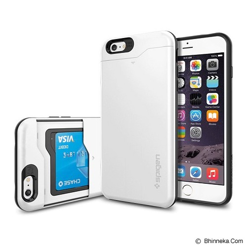 SPIGEN Slim Armor CS Card Slider iPhone 6 - Silver - Casing Handphone / Case