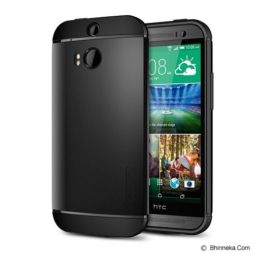 SPIGEN Slim Armor HTC M8 - Black - Casing Handphone / Case