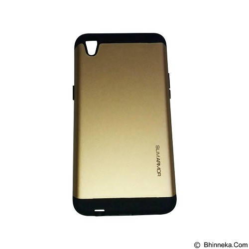 SPIGEN Slim Armor Leather Oppo F1 Plus/R9 - Gold (Merchant) - Casing Handphone / Case